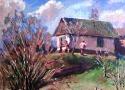 Адаменко О.П. «Весна». Картон, масло, 30х30
