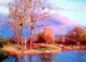 Адаменко О.П. «Вечер. Осень». Холст, масло.