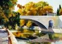 Фомин А.Ю. «Осень. Ривьерский мост». Холст, масло, 40х60, 2010 год