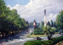 Гребенщиков С.В. «Платановая аллея». Холст, масло, 45х60, 2011 год