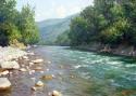 Гребенщиков С.В. «Река в горах». Холст, масло, 40х60, 2010 год