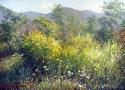 Гребенщиков С.В. «Куст желтых цветов». Холст, масло, 75х105, 2010 год