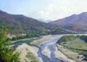 Гребенщиков С.В. «Река Аше». Холст, масло, 45х90, 2010 год
