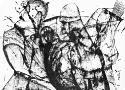 Исмаилов З.Д. «Русские богатыри» (серия «Войны»). Бумага, тушь, 16х22, 2007 год