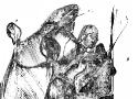 Исмаилов З.Д. «Средневековый рыцарь» (серия «Войны»). Бумага, тушь, 17х17, 2007 год
