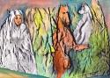 Исмаилов З.Д. «Сестра» (серия «Поиск истины»). Смешанная техника, 21х29, 2010 год