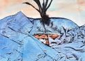Исмаилов З.Д. «Корнеплод» (серия «Поиск истины»). Смешанная техника, 29х21, 2010 год