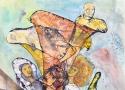 Исмаилов З.Д. «Смена поколений» (серия «Смена поколений»). Смешанная техника, 42х30, 2008 год
