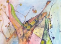 Исмаилов З.Д. «Семя жизни» (серия «Смена поколений»). Смешанная техника, 42х30, 2008 год