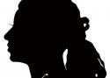 Исмаилов З.Д. «Женский силуэт 1». Черная бумага, 20х15, 2011 год