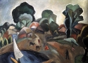 История ТСХР: Р.Фальк «Пейзаж с парусом»