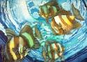 Львовская А.А. «Рыбы». Холодный батик, 60х50, 2007 год