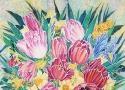 Львовская А.А. «Весенний букет». Холодный батик, 60х50, 2008 год