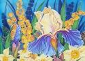 Львовская А.А. «Весна». Холодный батик, 70х40, 2008 год