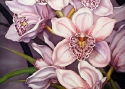 Львовская А.А. «Орхидея». Холодный батик, 50х60, 2010 год