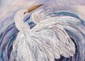 Львовская А.А. «Аист». Холодный батик, 42х52, 2011 год