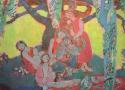 Паршков А.А. «Зеленая флейта». Холст, масло, 170х190, 2003 год