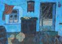 Паршков А.А. «Интерьер с дынями». Холст, масло, 68х100, 1999 год