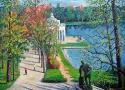 Пириев А.В. «Старый парк. Санкт-Петербург». Холст, масло, 100х80