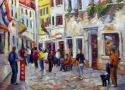 Пириев А.В. «Старая улочка. Хорватия». Холст, масло, 60х80