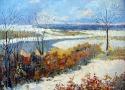 Пириев А.В. «Первый снег». Холст, масло, 50х40