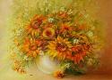 Полина Жебелева «Солнечный натюрморт». Холст, масло, 50х50, 2010 год