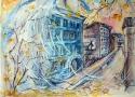 Полина Жебелева «Осенние сны». Бумага, акварель, 24х36, 1992 год