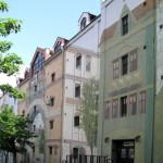 Иллюзии на фасадах домов в Белграде