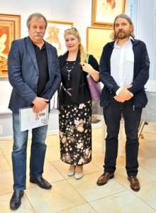 Президент ТСХР Константин Худяков, Наталия Цыгикало и вице-президент ТСХР Евгений Ромашко